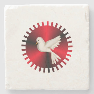 Holy Spirit Dove Stone Coaster