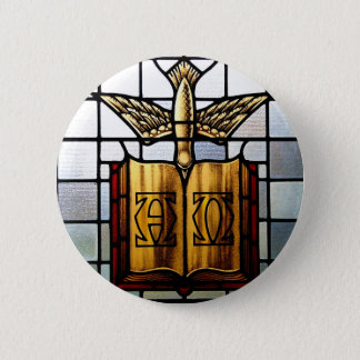 Holy Spirit Jesus is Alpha and Omega 2 Inch Round Button