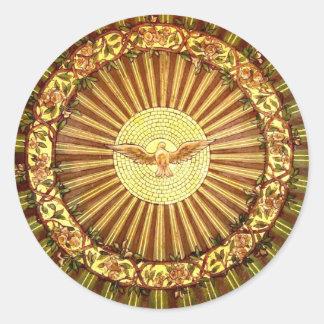 Holy Spirit painting Classic Round Sticker