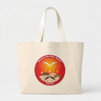 Holy Spirit Pentecost Large Tote Bag