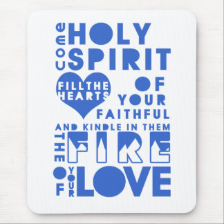 Holy Spirit Prayer Mouse Pad
