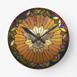 Holy Spirit Stained Glass Clock