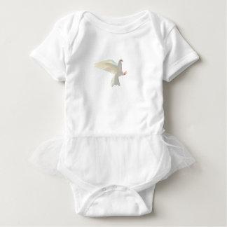 Holy Spirit white beautiful dove Baby Bodysuit