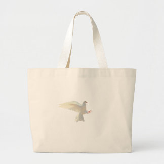 Holy Spirit white beautiful dove Large Tote Bag