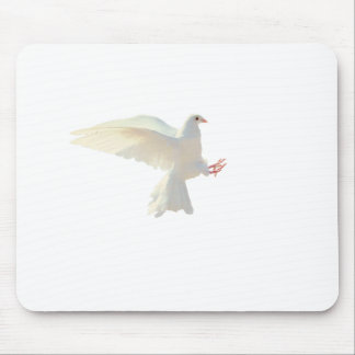 Holy Spirit white beautiful dove Mouse Pad