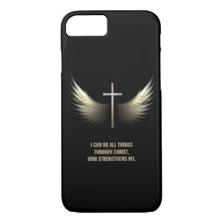 Holy Spirit Wings and Christian Cross Personalized iPhone 8/7 Case