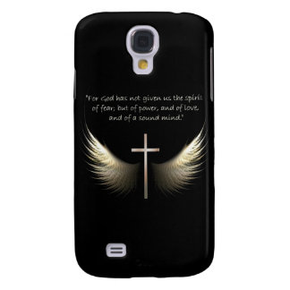 Holy Spirit Wings and Cross with Bible Verse