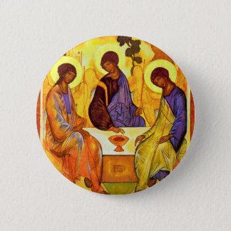 Holy Trinity By Rublã«V Andrej (Best Quality) 2 Inch Round Button