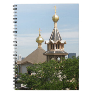 Holy Trinity CAthedral Domes (full color) Spiral Notebook
