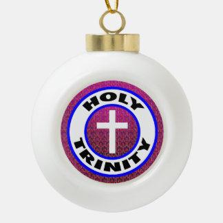 Holy Trinity Ceramic Ball Christmas Ornament