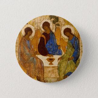 Holy Trinity Icon Rublev Byzantine Catholic Gift 2 Inch Round Button