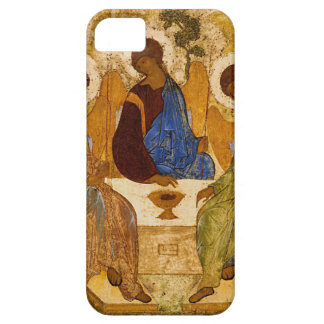 Holy Trinity Icon Rublev Byzantine Catholic Gift iPhone 5 Case