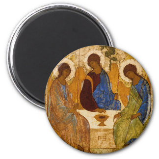 Holy Trinity Icon Rublev Byzantine Catholic Gift Magnet
