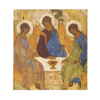 Holy Trinity Icon Rublev Byzantine Catholic Gift Notepad