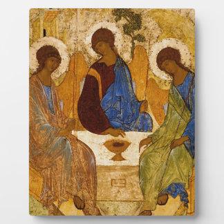 Holy Trinity Icon Rublev Byzantine Catholic Gift Plaque