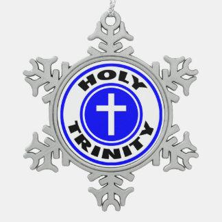 Holy Trinity Pewter Snowflake Ornament