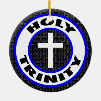 Holy Trinity Round Ceramic Ornament