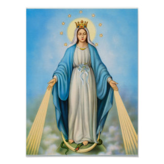 Holy virgin mother Mary,mother of God template Poster