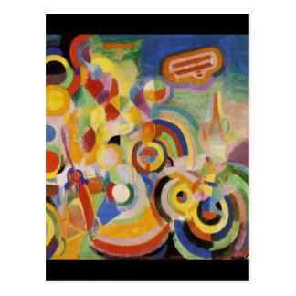 Homage to Bleriot by Robert Delaunay Postcard