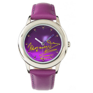 HOMAGE TO MOZART Composer 3D Gold Signature Purple Watch