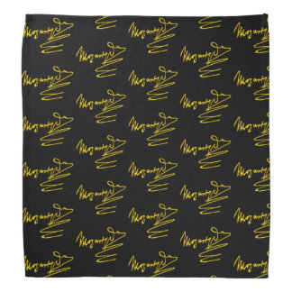 HOMAGE TO MOZART Gold Signature Of Composer Black Bandana