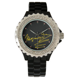 HOMAGE TO MOZART Gold Signature Of Composer Black Watch