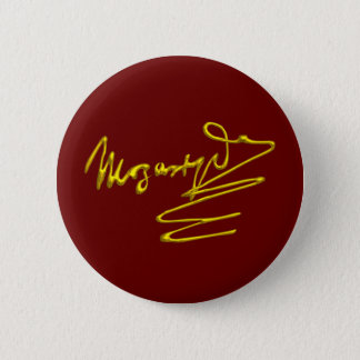 HOMAGE TO MOZART Gold Signature Of Composer Red 2 Inch Round Button