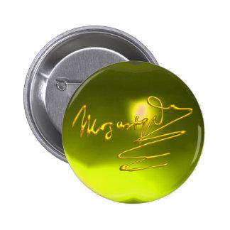 HOMAGE TO MOZART, yellow topaz 2 Inch Round Button