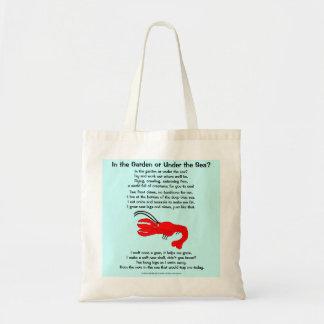 Homard 1, dans le jardin ou sous la mer ? sac en toile budget