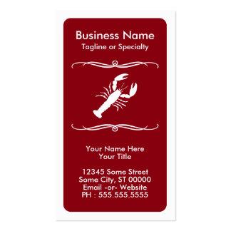 homard de mod carte de visite standard