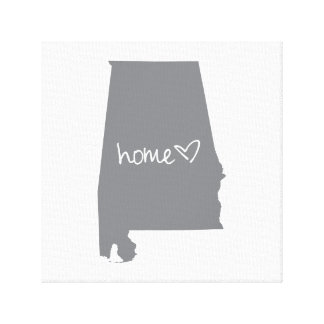 Home <3 Alabama Canvas Print