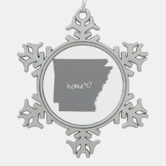 Home <3 Arkansas Pewter Snowflake Ornament