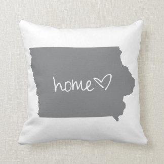 Home <3 Iowa Throw Pillow