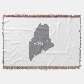 Home <3 Maine Throw Blanket