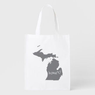 Home <3 Michigan Grocery Bags