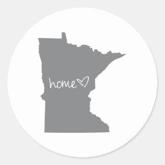 Home <3 Minnesota Classic Round Sticker