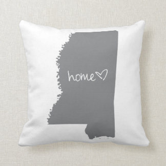 Home <3 Mississippi Throw Pillow