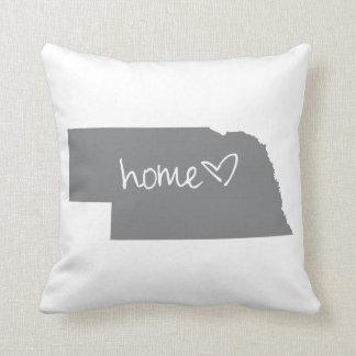 Home <3 Nebraska Throw Pillow