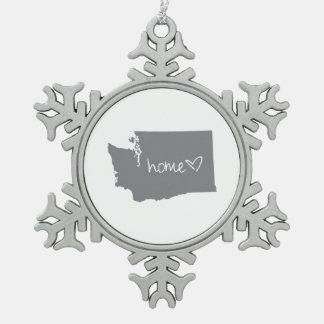 Home <3 Washington Pewter Snowflake Ornament