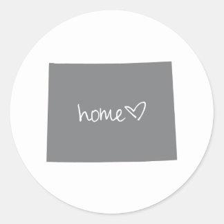 Home <3 Wyoming Classic Round Sticker