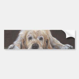 Home Alone Golden Retriever Bumper Sticker