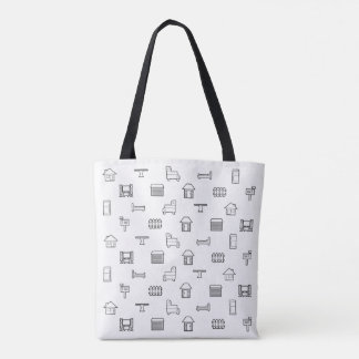 Home and Furniture Pattern Tote Bag