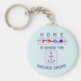 Home at Anchor Boater Key Chain