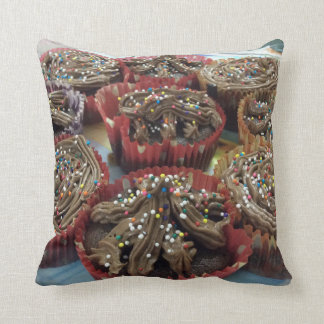 Home Baked Chocolate Cupcakes Pillow