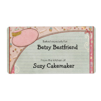Home Baked Goods Personalized Labels
