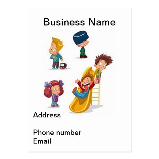 Home Based Child Care Business Card Templates