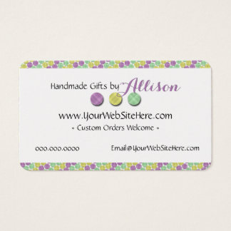 Home-Based Soap • Bath Bomb • Lotions Branded Business Card