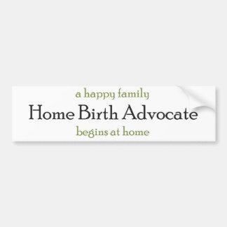Home Birth Advocate Bumper Sticker