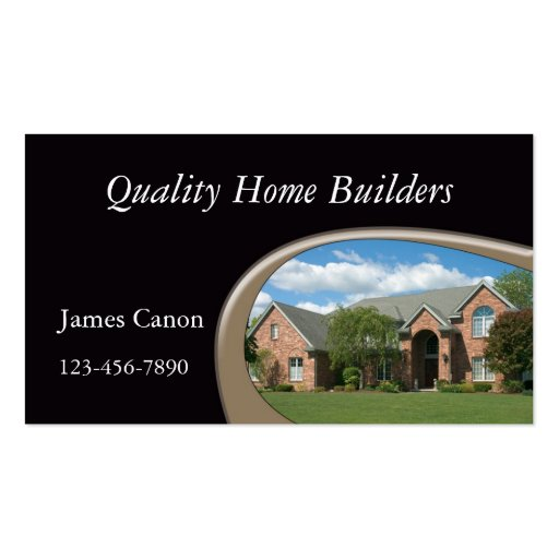 Home builder double sided standard business cards pack of for Home builder company