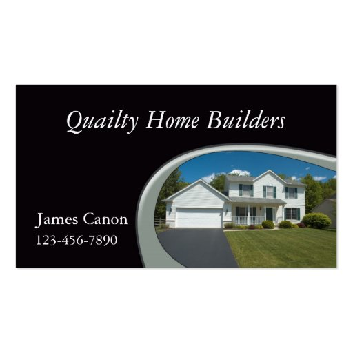 Home Builder Double Sided Standard Business Cards Pack Of